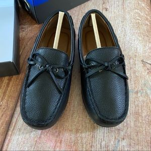 Vince Camuto Boys 11 black leather loafers Doile2